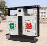 云南广胜钢木分类垃圾桶厂家 低价促销