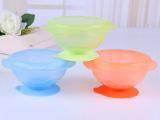 感温防滑吸盘零食碗 儿童训练吸盘碗辅食碗