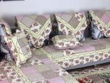 长期批发 美式乡村绗缝水洗沙发垫坐垫 布艺真皮防滑沙发套