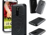 厂家批发LG  G2 盾牌二合一盔甲手机保护套 PC+TPU防震