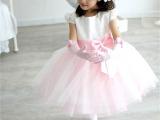 金丽服饰加工批发白色粉红公主泡泡舞蹈服 定做少儿演出表演服