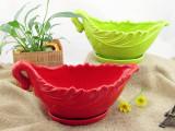 简约创意多肉陶瓷桌面叶子型zakka盆栽花盆花器 工厂直供批发