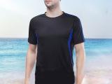 厂家批发定做男士足球运动短袖T恤 透气吸汗圆领广告T恤定制厂家