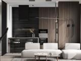 贵阳现代轻奢风格设计效果图 高级黑装修案例
