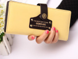 厂家批发2014韩版新款钱包 多功能磨砂皮钱夹可爱女式手机包L2