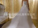 2015新款串珠抹胸婚纱 拖尾 韩版新娘结婚礼服苏州婚纱批发零售