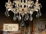 厂家批发 欧式蜡烛水晶灯 卧室客厅艺术灯具餐厅灯饰 XY3007