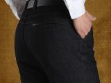 宽松直筒2014秋冬厚款商务中年男裤水洗免烫抗皱高腰男式休闲裤