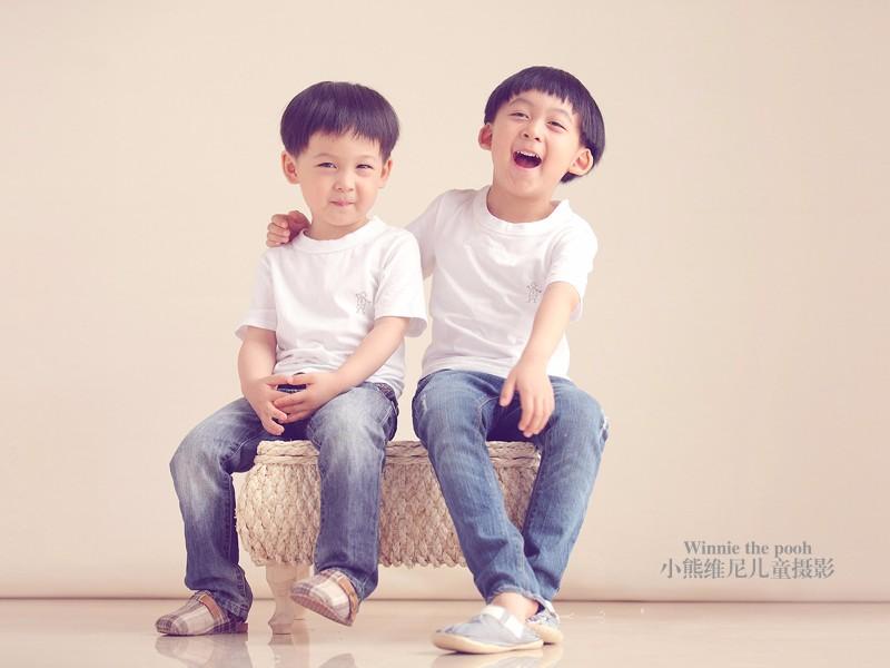 小熊维尼儿童摄影-挚爱两宝套餐