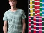 厂家直销兰精棉间条汗布 条纹针织面料 彩条布料 T恤