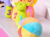 哈喜屋早教益智儿童多功能玩具闪闪森林可爱动物保龄球玩具套装