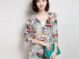 2015韩版春季中长款V字领开衫  女式修身型针织衫热卖批发