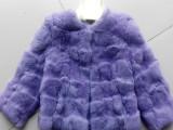厂家直销  秋冬新款 兔毛外套 皮草短款衣服上衣 家兔皮泊头拼皮