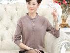 冬季中老年女装妈妈装毛衣批发中年半高领保暖纯色镶钻羊毛衫