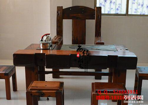 南通尚亿老船木实木家具批发简约现代功夫茶台室内户外茶桌沙发
