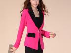 韩版秋装新款小西装女外套拼接修身长袖小西服 阿里巴巴批发网