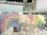 天津百日宴气球布置 满月宴气球布置