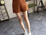 秋季女装新款韩版基础款A字阔腿短裤时尚显