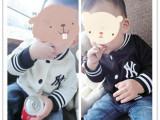 2014秋装新款童外套 婴幼儿童绣花字母棒球服外套 运动夹克开衫