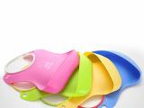 儿童吃饭兜食饭兜防水围嘴 婴儿超硅胶材质 宝宝围兜口水巾 小孩