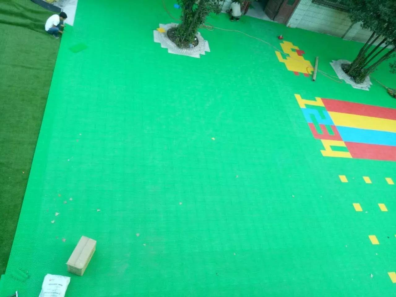 幼儿园悬浮拼装运动地板 环保无味耐磨不褪色 厂家直销