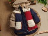 2014新款男童外套秋冬款儿童棉衣冬季外套男宝宝衣服棉服0123