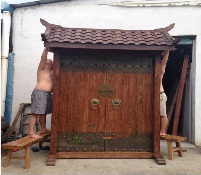 厂家订做四合院大门实木仿古院门实木古建双开大门