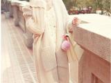 2014韩版秋冬季新款中长款加厚韩版毛衣开衫外套 专柜品质