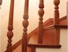 别墅荷花柱手工楼梯立柱 上海楼梯别墅楼梯厂家制作 橡木原木门
