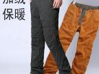 男士加厚保暖加绒工装裤 加厚户外竖拉链冲锋裤 休闲冬裤男棉裤