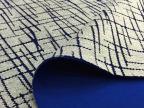 横竖纹路 人棉涤纶太空层烧花印花布料面料