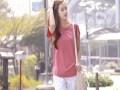 2017夏装新品韩版宽松百搭花瓣袖圆领短袖T恤棉半袖女装