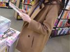 新款秋季韩版风衣批发 双排扣毛呢风衣女 女式风衣外套女装代理
