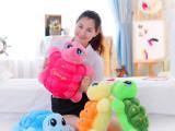 批发供应 海洋世界大眼睛乌龟 亲子小彩龟毛绒玩具公仔儿童节礼品