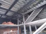 雄县钢结构工程施工外跨楼梯搭建