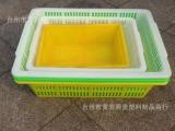 批发销售塑料周转箩筐 小号蔬菜框 加厚塑料框 多色可选