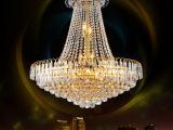 现代简约金黄色客厅餐厅水晶灯吊灯灯饰奢华酒店复式楼灯具