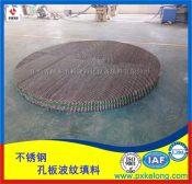 萍乡科隆正在为江苏某公司生产316L材质252Y孔板波纹填料