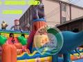 腾龙 厂家直销 充气城堡 充气滑梯 加网加厚环保pvc材料