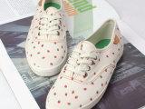 2015夏季可爱小草莓女鞋子平底系带学生帆布鞋学院风潮单鞋子批发