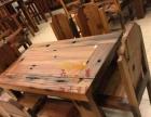 五星老船木优势批发茶桌茶台茶几办公桌餐桌椅等家具