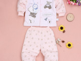 婴儿棉衣两件套新生儿棉袄冬季宝宝衣服纯棉加厚冬装 柔软