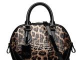 女士手提包包2014新款欧美时尚漆皮豹纹大牌潮鳄鱼纹牛皮大包批发