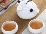 峰云 旅行茶具定窑亚光套装便携快客杯旅行