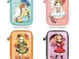 韩版可爱卡通女孩pvc镜面革洗漱收纳化妆包厂家直销批发