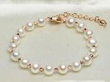 珍珠手链新款上市 天然淡水真珠 欧美热销款 简约大气