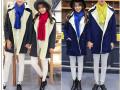 韩版中长款毛呢外套 棉服批发 天津最低价时尚秋季女装货源批发