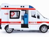 玩具总部总汇仿真合金车模型声光回力可侧开门儿童玩具警车救护