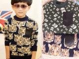 2013秋冬装韩版童装 男童装加厚打底衫儿童加绒卫衣 绒衫 外套