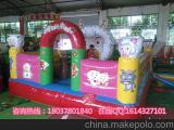 热卖儿童充气城堡 充气蹦床 游乐园淘气堡 幼儿园玩具床厂家直销